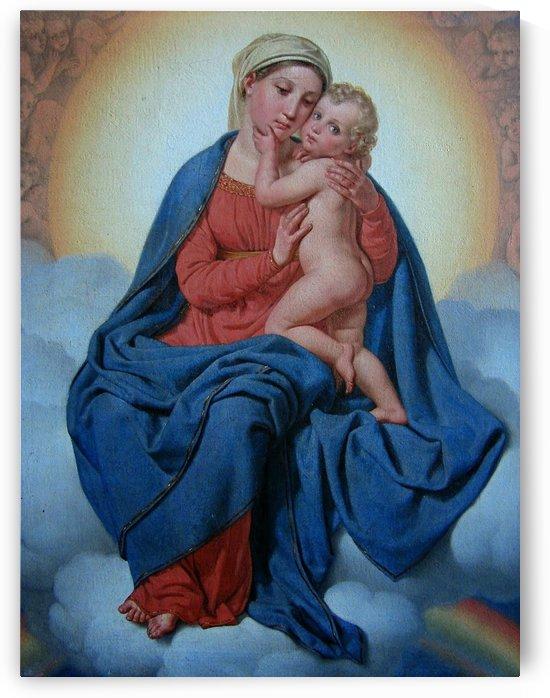 Maria med Jesusbarnet by Christoffer Wilhelm Eckersberg