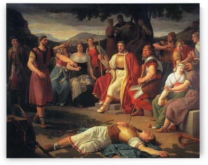 Baldr's Death by Christoffer Wilhelm Eckersberg