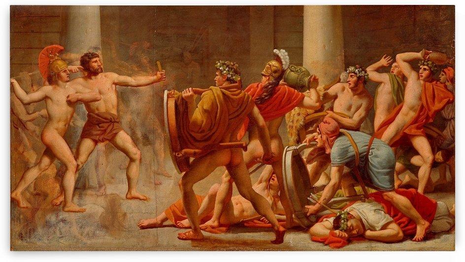Ulysses revenge on Penelopes suitors by Christoffer Wilhelm Eckersberg