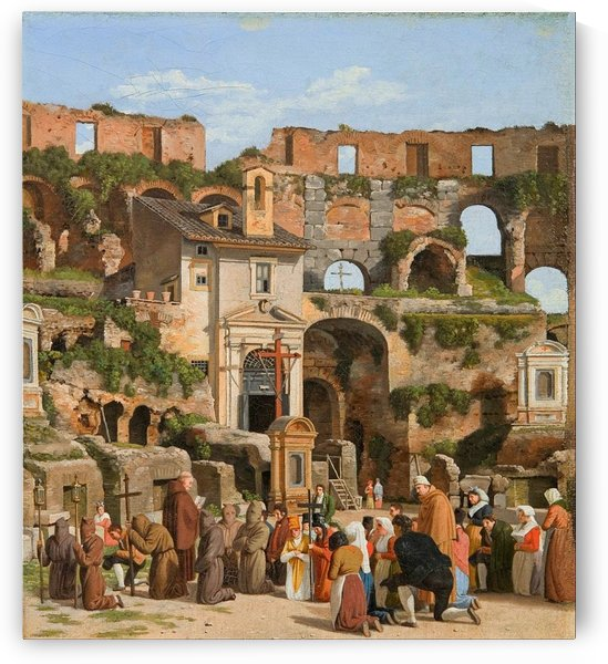 View of the interior of the Colosseum by Christoffer Wilhelm Eckersberg