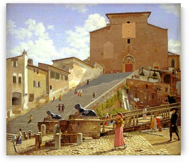 The marble staircase by Christoffer Wilhelm Eckersberg