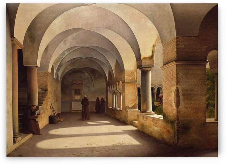 The Cloisters, San Lorenzo fuori le mura by Christoffer Wilhelm Eckersberg