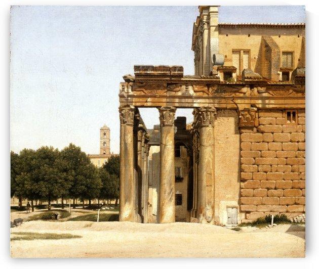 View of the Via Sacra, Rome, 1814 by Christoffer Wilhelm Eckersberg