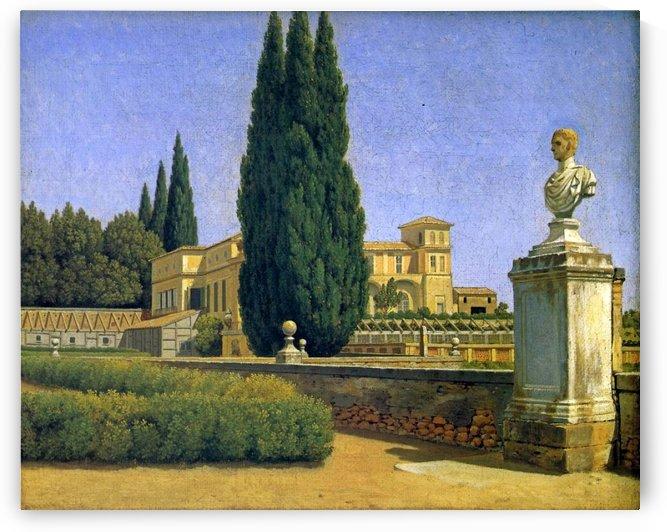 In the Gardens of the Villa Albani by Christoffer Wilhelm Eckersberg