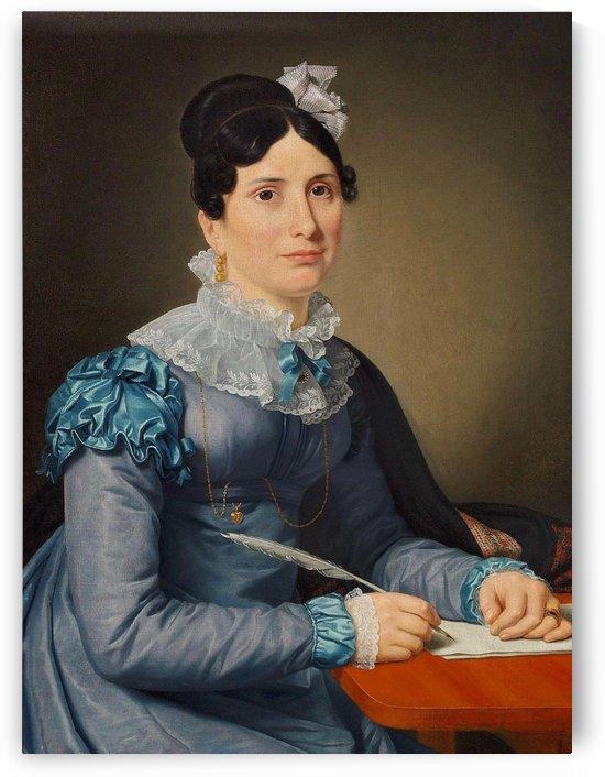 Portrait of Sarah Wolff by Christoffer Wilhelm Eckersberg