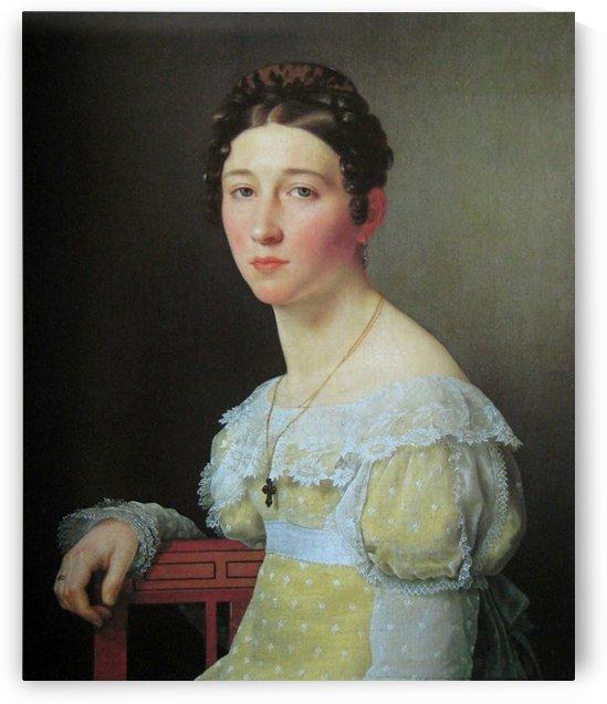 Portrait of Emilie Henriette Massmann by Christoffer Wilhelm Eckersberg