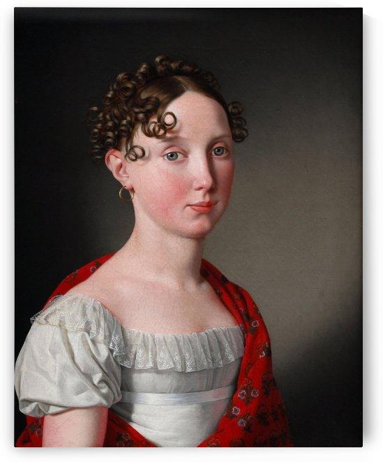 Portrait of Ida Mariane Brockenhuus by Christoffer Wilhelm Eckersberg