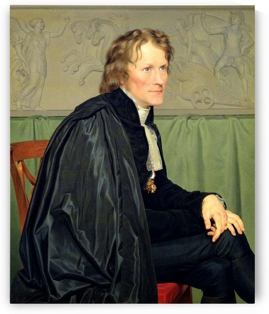 Portrait of Bertel Thorvaldsen by Christoffer Wilhelm Eckersberg