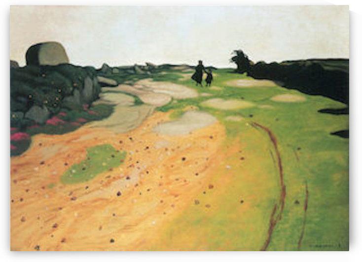 Landscape in Breton by Felix Vallotton by Felix Vallotton