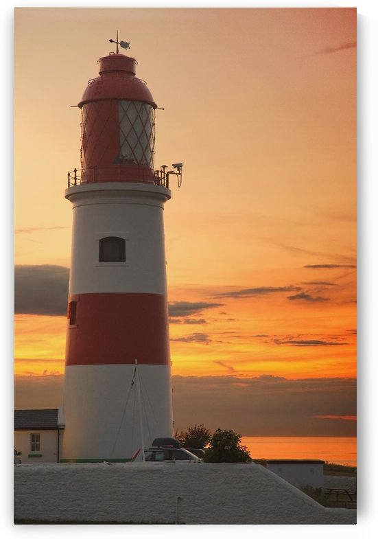Lighthouse; Whitburn, Tyne And Wear, England by PacificStock
