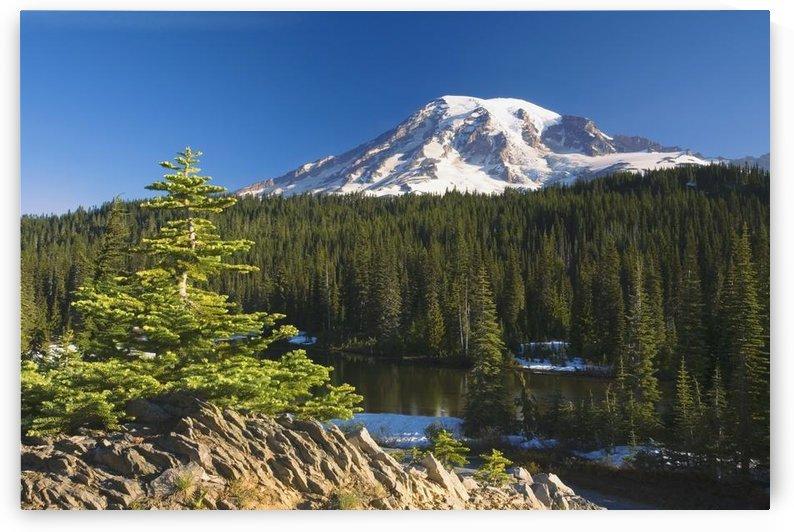 Snow-Capped Mountain; Washington,Usa by PacificStock