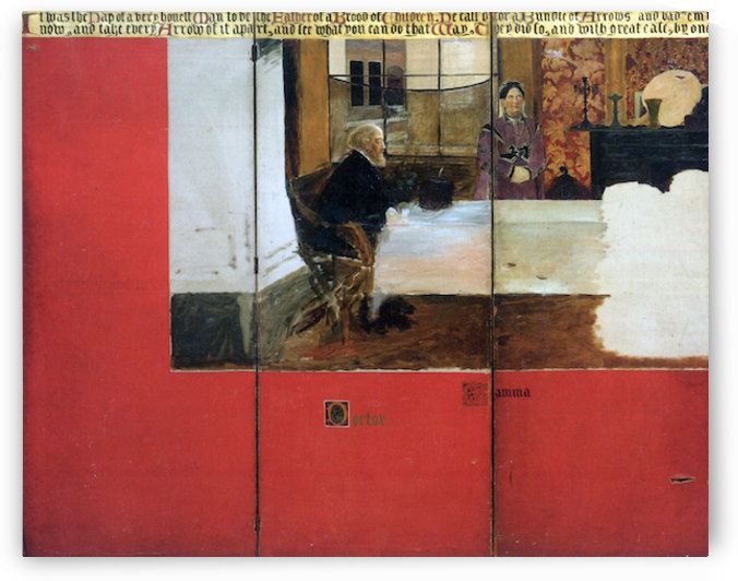 The family picture of Epps, panels 1-3 by Alma-Tadema by Alma-Tadema