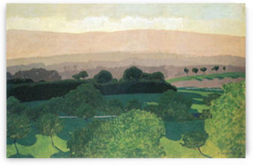 Landscape in Romanel by Felix Vallotton by Felix Vallotton