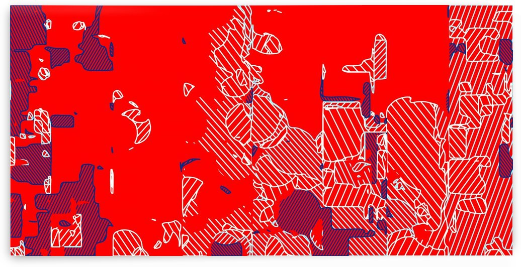 graffiti drawing and painting abstract in red and blue by TimmyLA