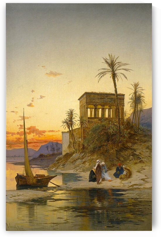 Trajan's Kiosk on the Nile, Egypt by Hermann David Salomon Corrodi