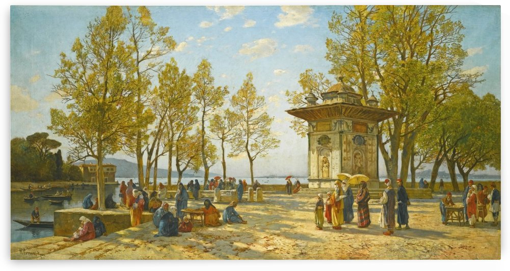 The sweet water fountain in Asia, along the Bosphorus by Hermann David Salomon Corrodi