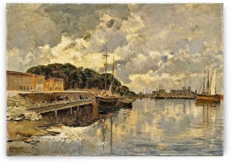 Boats entering Oriental harbour by Hermann David Salomon Corrodi