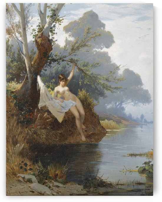 Girl within the riverbank by Hermann David Salomon Corrodi