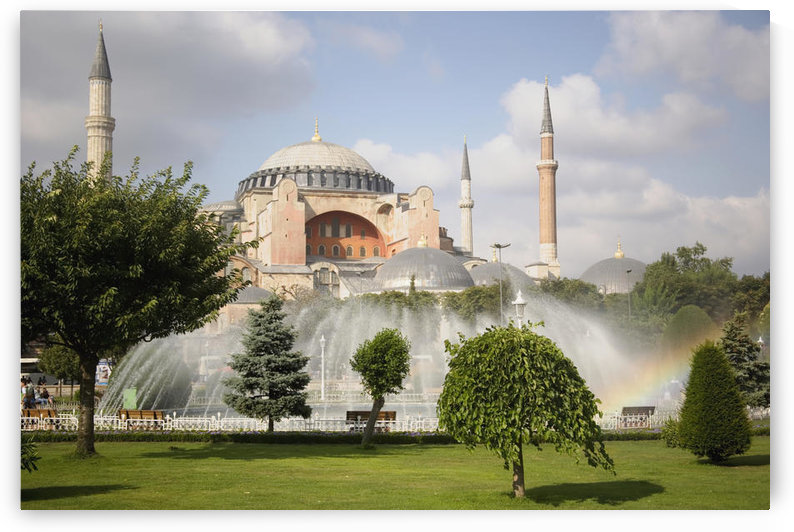 St Sophia Mosque And Fountain In Park by PacificStock