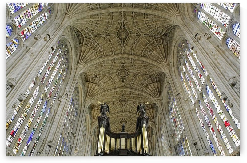 Ceiling Of King's College Chapel by PacificStock