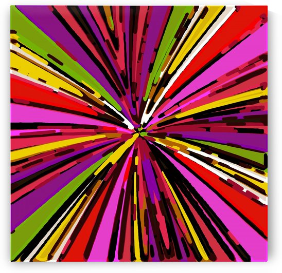 psychedelic geometric graffiti line pattern in pink purple yellow green red by TimmyLA