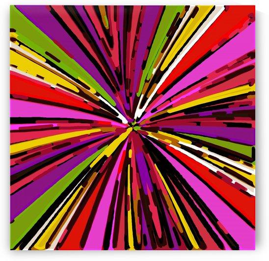 psychedelic geometric graffiti line pattern in pink purple yellow green red by TimmyLA
