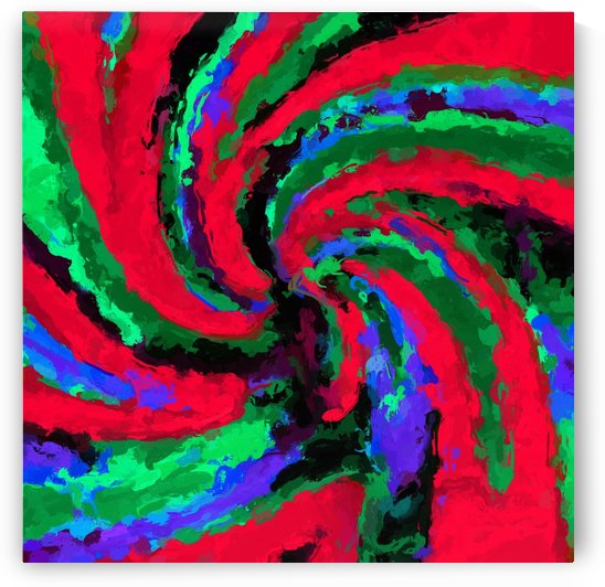psychedelic graffiti splash painting abstract in red green blue by TimmyLA