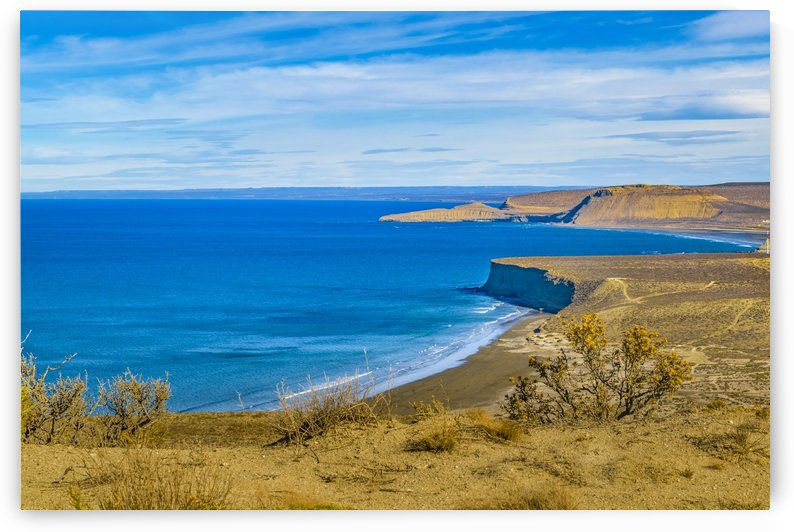 Seascape View from Punta del Marquez Viewpoint, Chubut, Argentina by Daniel Ferreia Leites Ciccarino