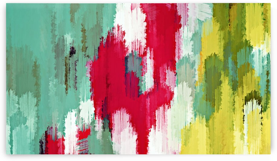 red green and yellow painting texture abstract background by TimmyLA