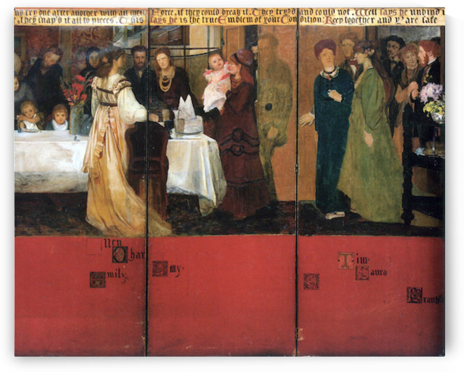 The family picture of Epps, panels 4-6 by Alma-Tadema by Alma-Tadema