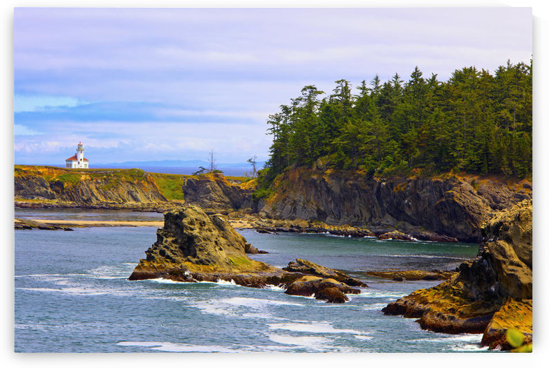Cape Arago Lighthouse At Shore Acres State Park At Coos Bay; Charleston Oregon, United States of America by PacificStock