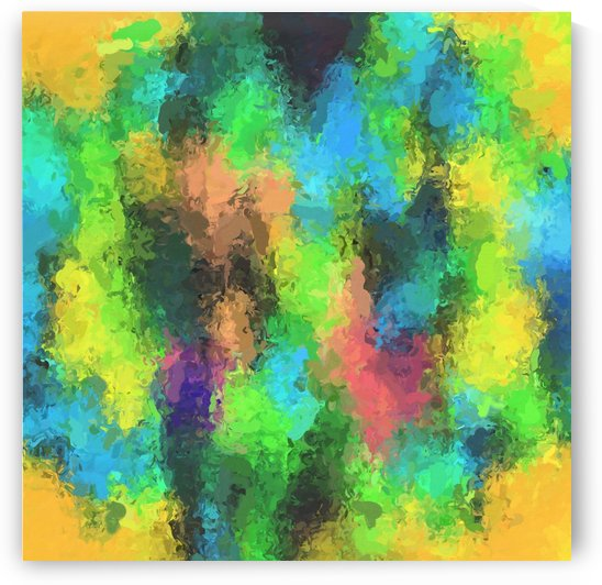 psychedelic graffiti painting abstract in yellow green pink blue by TimmyLA