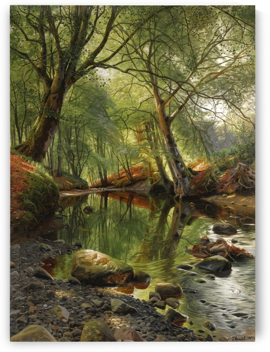 A woodland stream, 1895 by Peter Mork Monsted