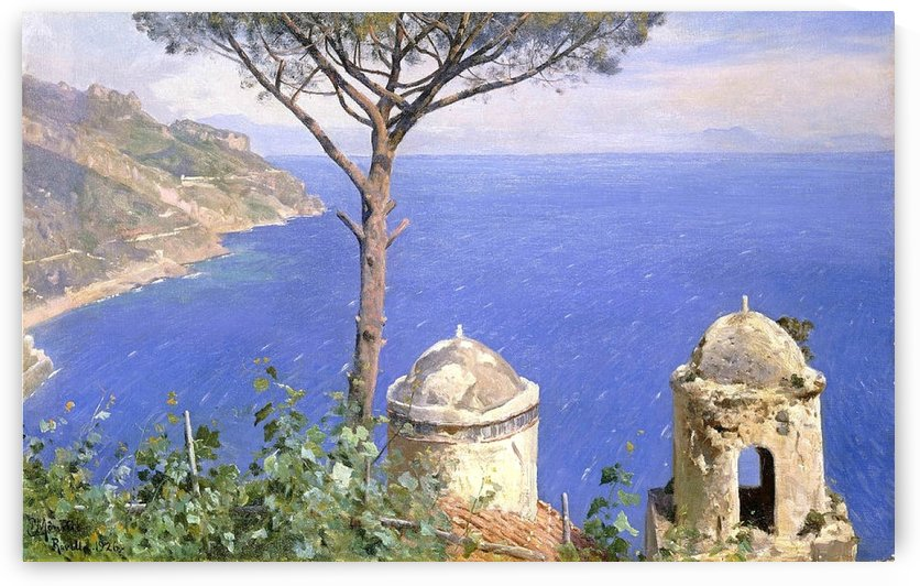 Sea view in Ravello, Italy by Peter Mork Monsted
