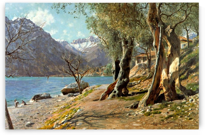 A view of Torbole by Peter Mork Monsted