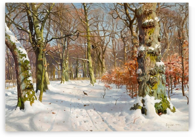 Winter landscape in Charlottenlund Forest by Peter Mork Monsted