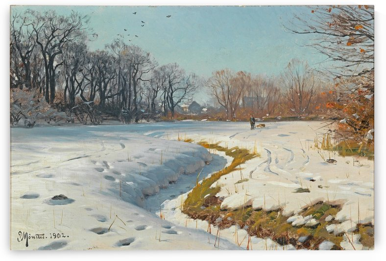 A sunny winter day 1902 by Peter Mork Monsted