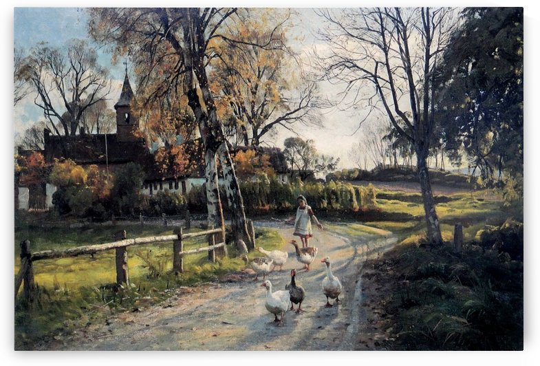 A walk in the garden along with the birds by Peter Mork Monsted