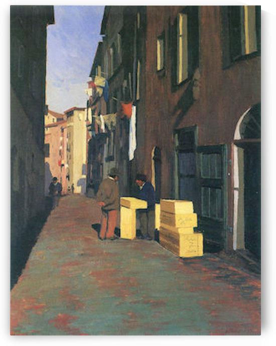 Old street in Nice, France by Felix Vallotton by Felix Vallotton
