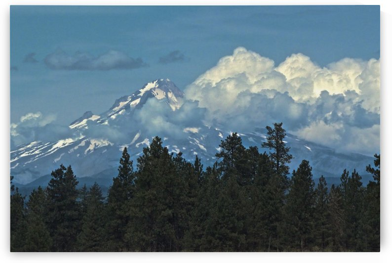 Mt Hood & Clouds by Craig Nowell Stott