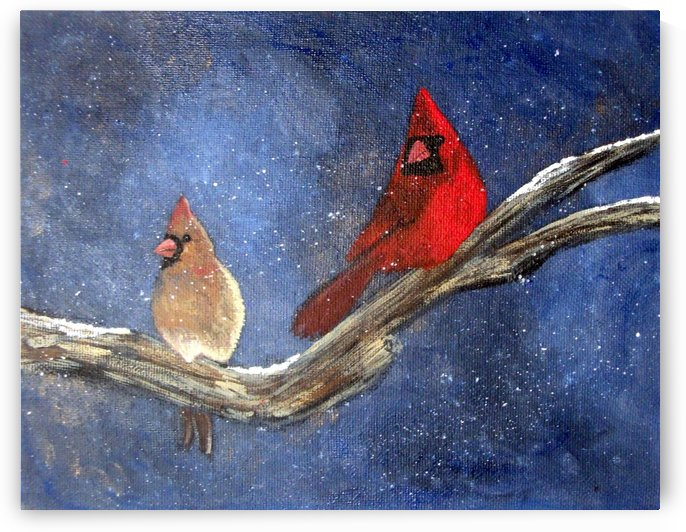 Cardinals by Tami Booher Appalachian Nature Painter