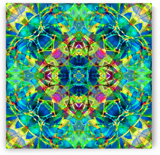 kaleidoscope Crystal Abstract G116 by Medusa GraphicArt