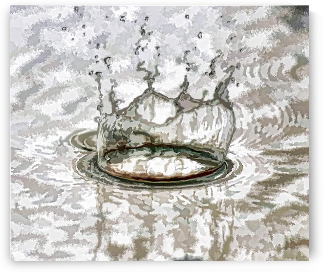 Water Splash 2 Abstract by Linda Brody