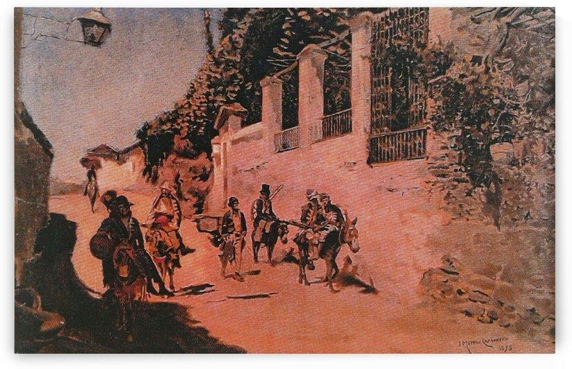 Soldados en retirada by Jose Moreno Carbonero