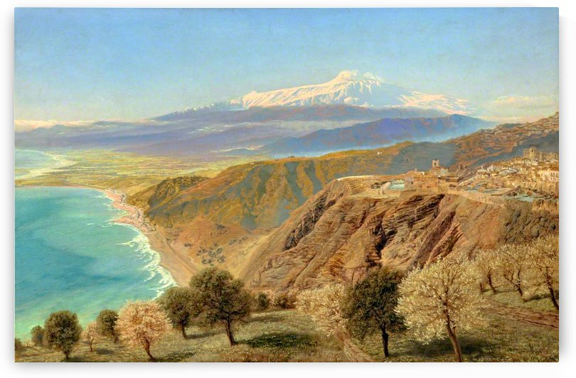 Mount Etna from Taormina by John Brett