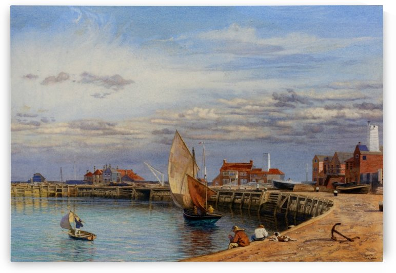 Entrance to Yarmouth Harbour by John Brett