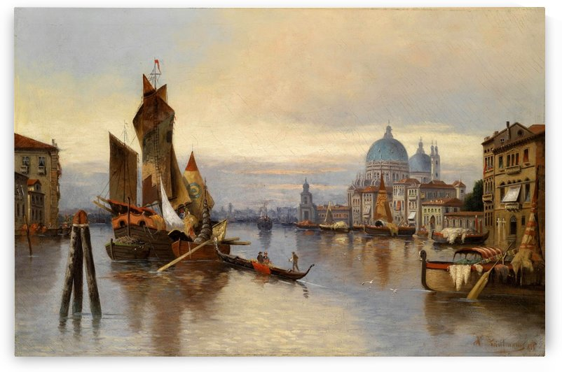 Sailing down the Venice River by Karl Kaufmann