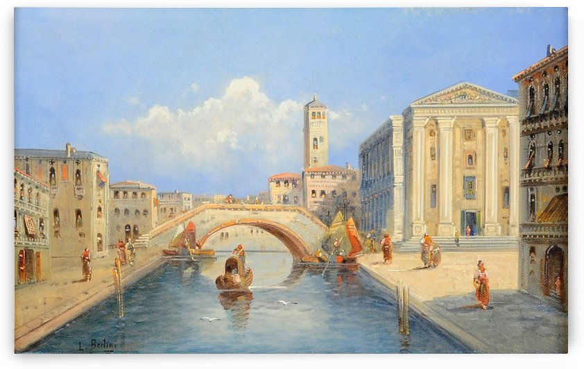A bridge in Venice by Karl Kaufmann