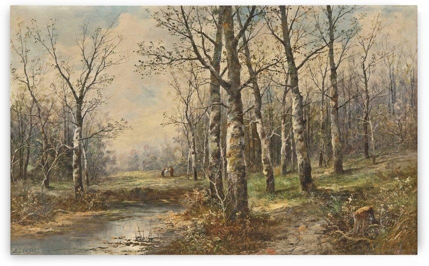 Birkenwald im Fruhling by Karl Kaufmann