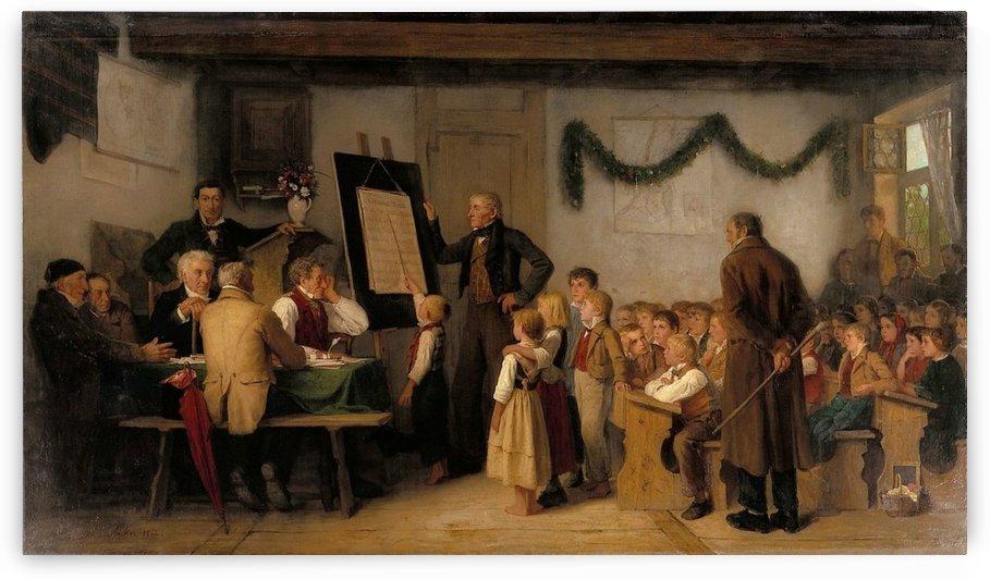 The school exam, 1862 by Anker Albert